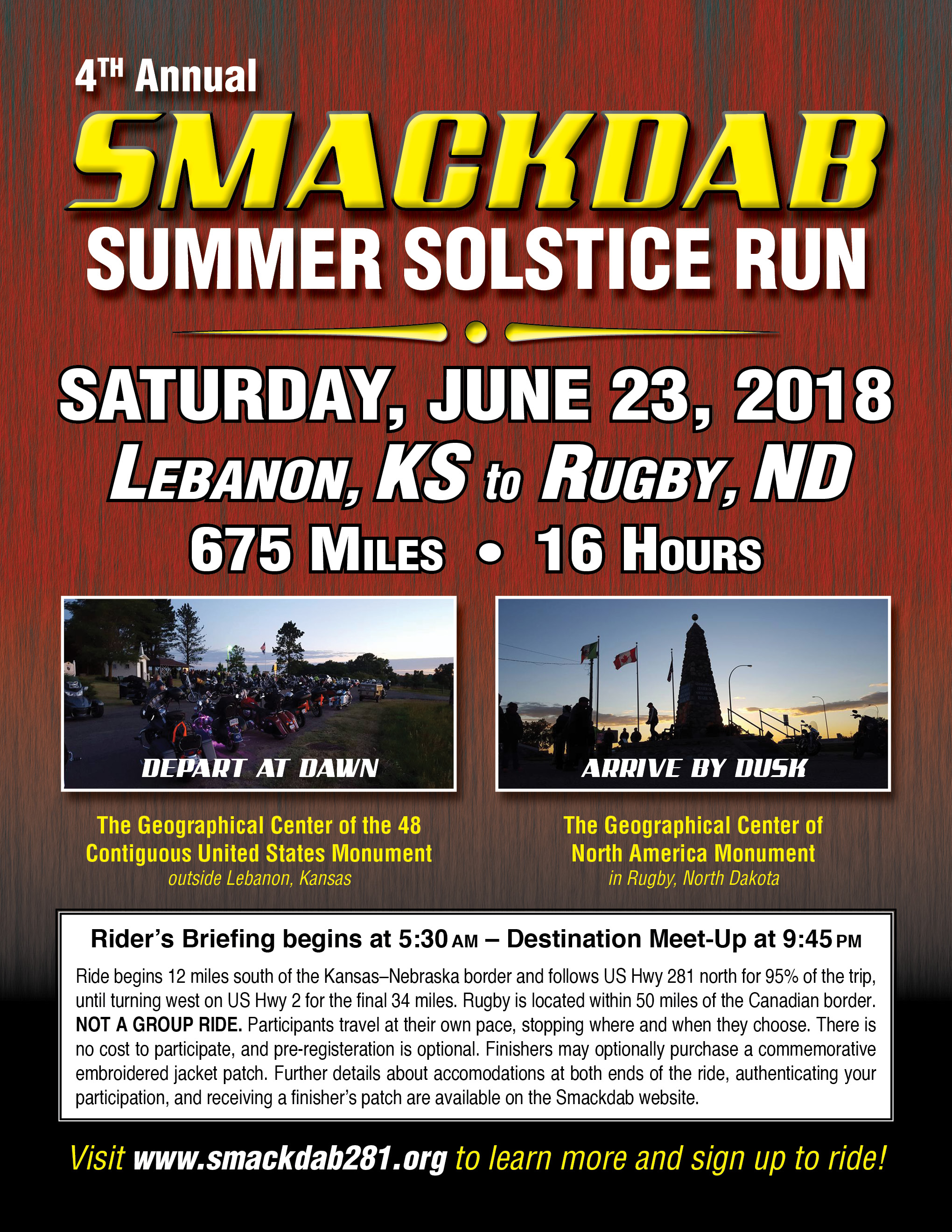 Promotional Flyer Available for Download – THE SMACKDAB RUN