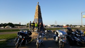A smaller group of five riding this year took advantage and completed the ride as a group.